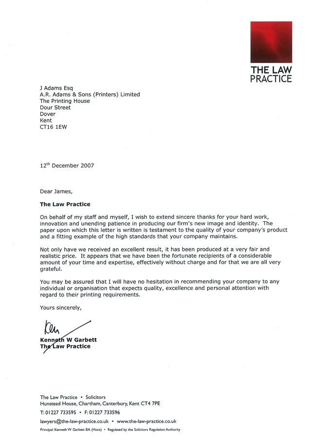letter of the law letter of the levelings 23099 | Law Practice Letter